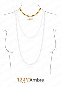 Buste de femme avec un collier de 45cm