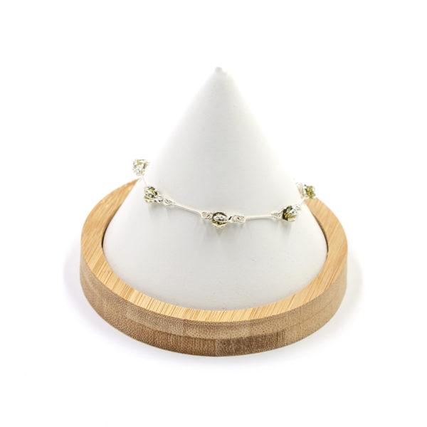 Bracelet Coccinelle Ambre Vert et Argent 925/1000