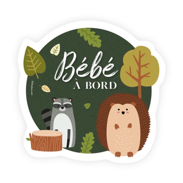 Autocollant Bébé à Bord Forêt