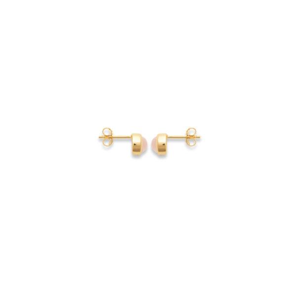 Boucle d'oreille Alhéna Quartz Rose Profil