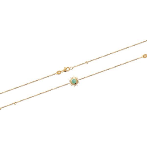 Bracelet Soleil - Plaqué Or et Aventurine