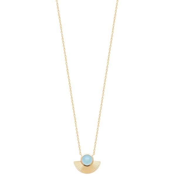 Collier Adhara - Plaqué Or et Agate Bleue
