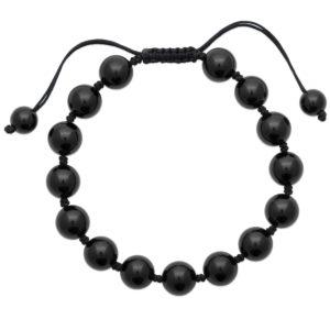 Bracelet Shamballa Agate Noire