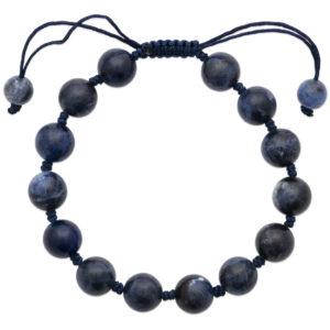 Bracelet Shamballa Jaspe Bleu