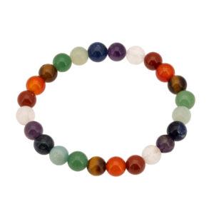Bracelet 7 chakras multicolore