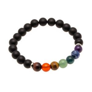 Bracelet 7 Chakras Onyx