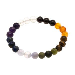 Bracelet 7 Chakras Arc-en-ciel