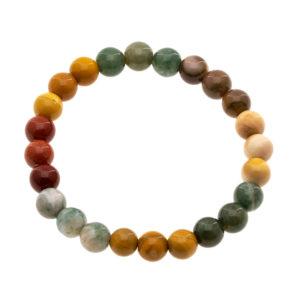 Bracelet Agate Multicolore 8 mm A