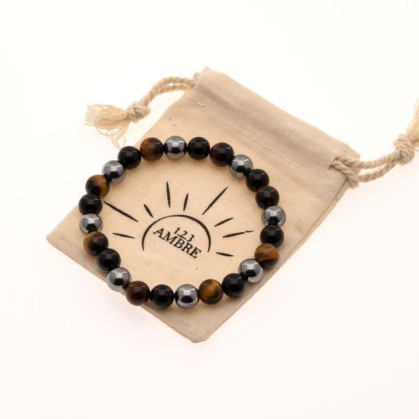 Bracelet Triple Force et pochette Lin