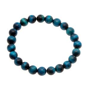 Bracelet Oeil de Tigre Bleu 8mm A