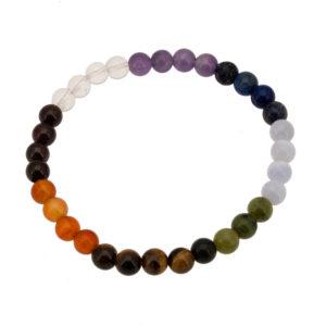 bracelet 7 chakras arc en ciel 6 mm